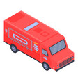 city food truck icon isometric style vector image vector image
