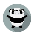 Cute Little Panda Flat Icon vector image