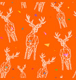 deer triangle shape seamless pattern backgrounds vector image vector image