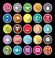 Design time flat icons with long shadow vector image vector image