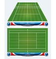 empty tennis court with set infographic element vector image