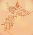 firebird hand-drawn vector image