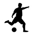 footballer the black color icon vector image vector image