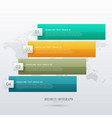 four steps infographic design for presentation vector image