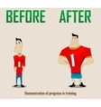 funny sportsmen vector image vector image