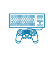 game controllers linear icon concept game vector image vector image