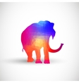 Geometric silhouettes animals Elephant vector image vector image