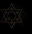 golden star of david vector image vector image