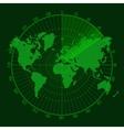 Green Radar Screen with Map
