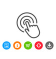 hand click line icon finger touch sign vector image vector image