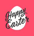 Happy Easter greeting Card hand-drawing Lettering vector image