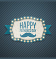 happy fathers day festive background template vector image vector image