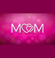happy mothers day greeting card design with vector image