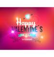 Happy Valentines day vintage label card vector image