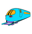 high speed train icon icon cartoon vector image vector image