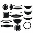 icon of plates of different shapes vector image vector image