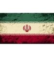 Iranian flag Grunge background vector image