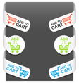 left and right side signs - add to cart vector image