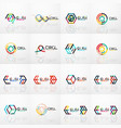 linear abstract symbol business geometric logo set vector image