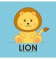 lion cute vector image vector image