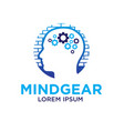 mind gear logo designs vector image