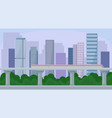 modern cityscape with skyscraper buildings and vector image
