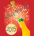new years bottle 2015 vector image vector image