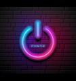 on off power symbol neon light design block vector image