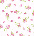 Pattern with pink little flowers vector image vector image