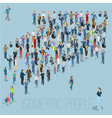 people crowd arrow vector image vector image