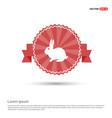 rabbit icon - red ribbon banner vector image