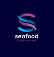 restaurant seafood s monogram octopus tentacle eel vector image