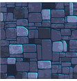 seamless background texture blue stone wall vector image vector image