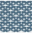 seamless pattern with military aircraft vector image