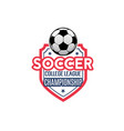 soccer football league championship icon vector image vector image