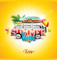 summer holiday on blue sky vector image
