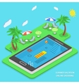 Summer vacation online ordering concept vector image vector image