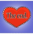 The end of love red heart vector image vector image