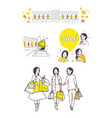the period of sales shopping vector image vector image
