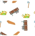 Timber elements pattern cartoon style vector image vector image