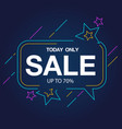 today only sale up to 70 star background i vector image