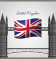 united kingdom places flag vector image vector image