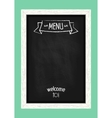 Vertical menu chalkboard for cafes and restaurants vector image vector image