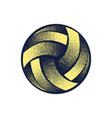 volleyball halftone yellow symbol vector image vector image