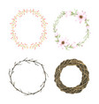 watercolor flower wreath for decorative and design vector image vector image