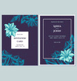 wedding invitation card with blue gentiana vector image vector image