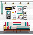 white country living room vector image vector image