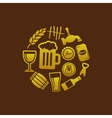 beer icons in circle vector image