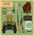 Gone hunting bear vector image