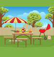 summer backyard fun bbq vector image